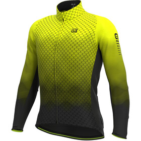 Alé Cycling R-EV1 Velocity Wind G+ Longsleeve Jersey Heren, fluo yellow/black